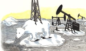 Andrzej Krauze illustration for oil industry subsidies