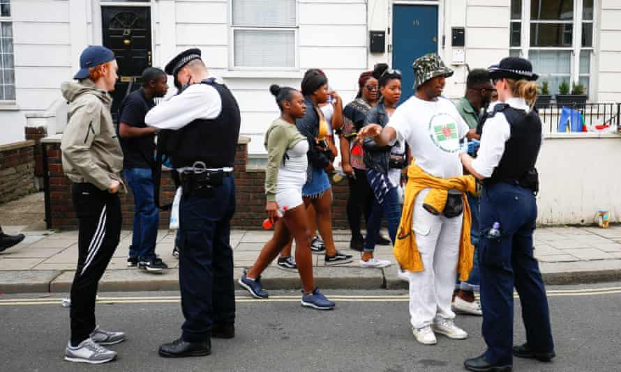 Police stop and search people