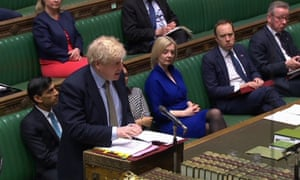 Boris Johnson speaking during prime minister's questions