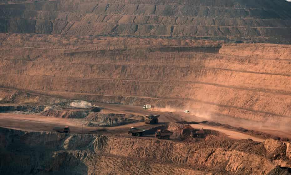 Open pit copper mines at Mutanda in the Democratic Republic of Congo.