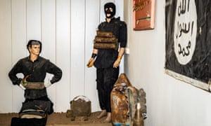 Dummies wearing defused suicide vests