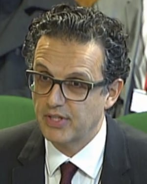 Channel 4 chief executive David Abraham appearing before the DCMS select committee at the House of Commons.