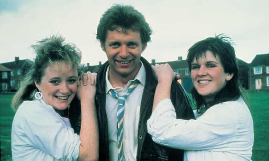 Michelle Holmes, George Costigan and Siobhan Finneran in the 1987 film adaptation of Rita, Sue and Bob Too.
