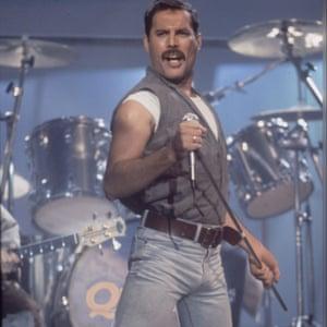 Freddie Mercury photographed in 1986.