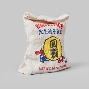 Kokuho Rice porcelain grocery artwork  by artist Stephanie H Shih.