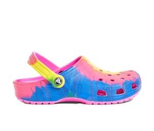 Tie-dye clogs £40, Crocs urbanoutfitters.co.uk