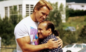 Danny DeVito in Twins with Arnold Schwarzenegger.