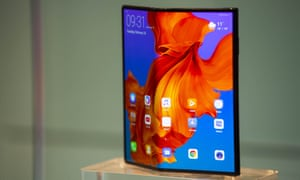 The Huawei Mate X has a folding screen that wraps all the way round the outside of the phone, unfolding to create one big 8in display.
