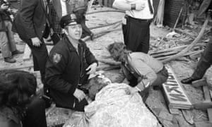 The scene after the FALN bomb exploded at the Fraunces Tavernin Lower Manhattan, on 24 January 1975. López Rivera has always denied involvement. Photograph: New York Daily News via Getty Images