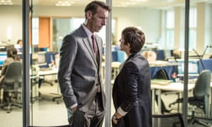 Dead cats and naked wrestling … Craig Parkinson with Vicky McClure in Line of Duty.