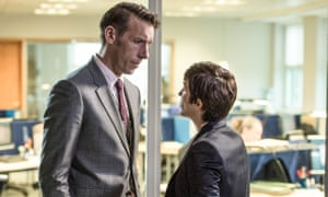 Acting talk ... Two Shot Podcast host Craig Parkinson and Vicky McClure in Line of Duty.