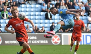 Coventry City striker Conor Chaplin (on loan from Portsmouth) heads in the opening goal.