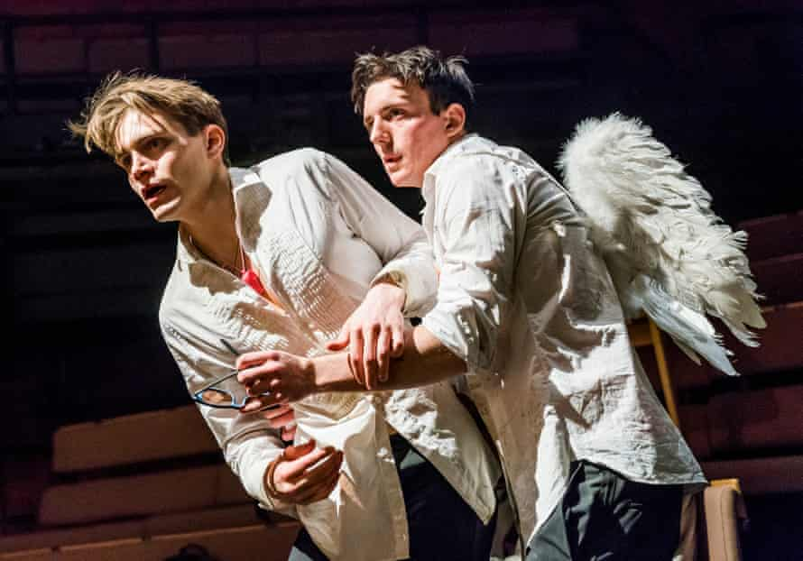 'The gunpowder beneath the plot': Andrew Burnap, left, with Samuel H Levine in The Inheritance  at the Young Vic.