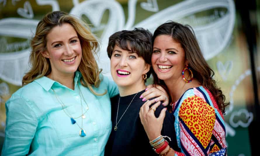 Rachael Bland (left) with Lauren Mahon and Deborah James
