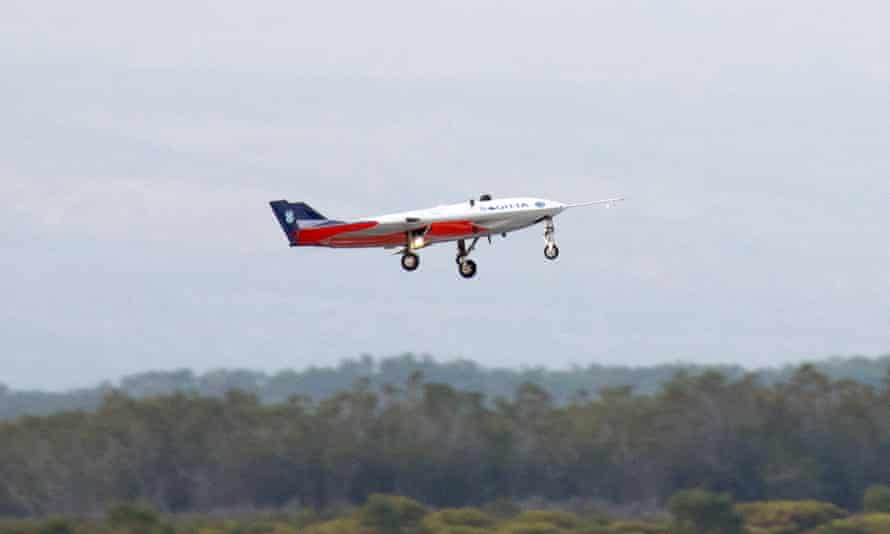 A quarter-scale demonstrator of Airbus's Sagitta flying wing makes its maiden flight in South Africa.
