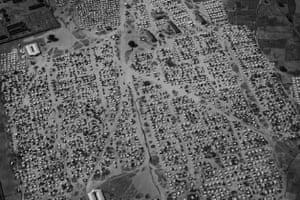 An aerial view of Konduga IDP camp in Borno state