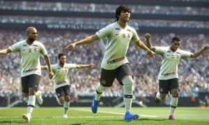 The beautiful game … SC Corinthian celebrate in Pro Evolution Soccer 2019.