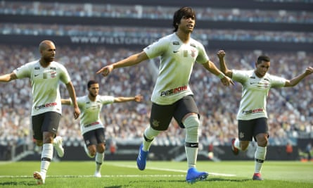 The beautiful game … SC Corinthian celebrate in Pro Evolution Soccer 2019.