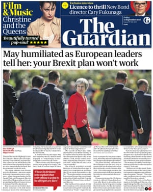 Guardian front page, Friday 21 September 2018