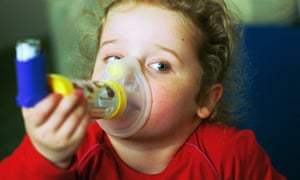 Georgia Conely, a young girl with a ventolin inhaler.