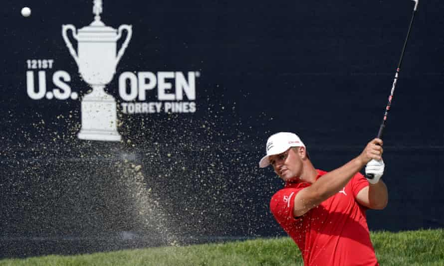 Bryson DeChambeau during a practice round for the US Open