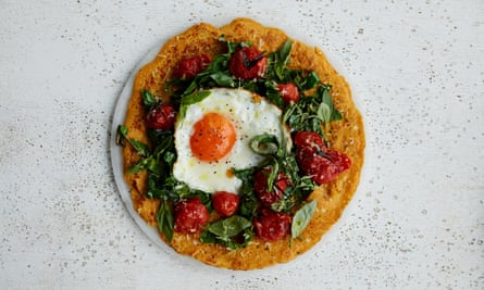 Anna Jones' quick chickpea and carrot crepes.