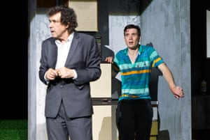 Stephen Rea and Cillian Murphy in the world premiere of Ballyturk, written and directed by Enda Walsh, at Black Box theatre during Galway international arts festival, July 2014.