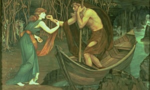 Psyche gets a lift from Charon across the River Styx