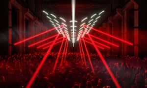 a light installation by Christopher Bauder and Kangding Ray at CTM Berlin