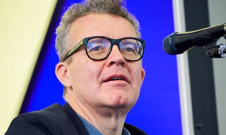 Tom Watson addresses the Byline festival in East Sussex.