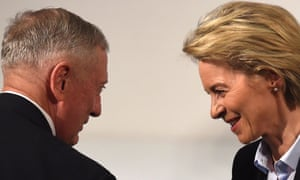 James Mattis and Ursula von der Leyen at the Munich security conference on Friday.