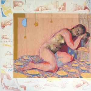 Suzon Lagarde modelinin yaptığı bir tablo;  modelleme kendi sanatsal yeteneklerini bildirmiştir.