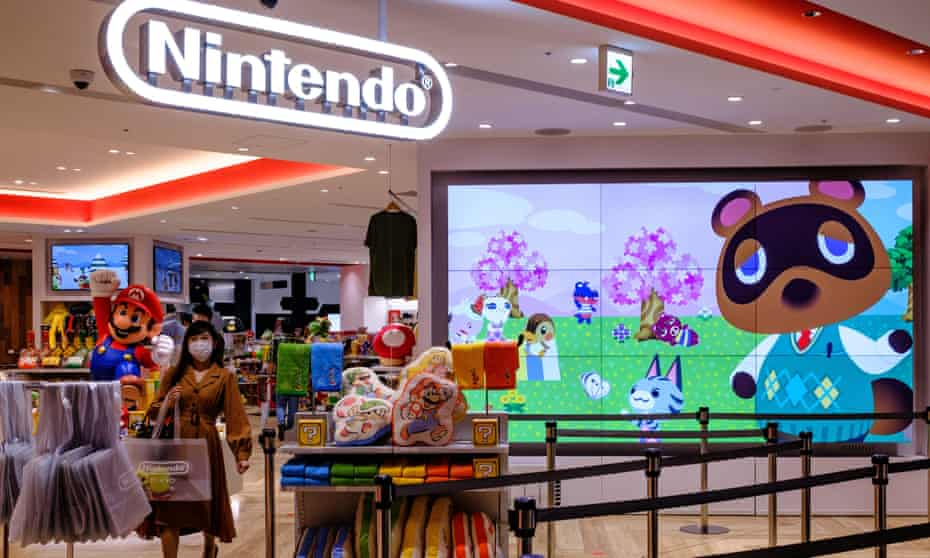 The characters from the Animal Crossing series video game at a Nintendo store in Tokyo.