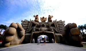 Visitors enjoy their times at Cinecitta World theme park in Rome