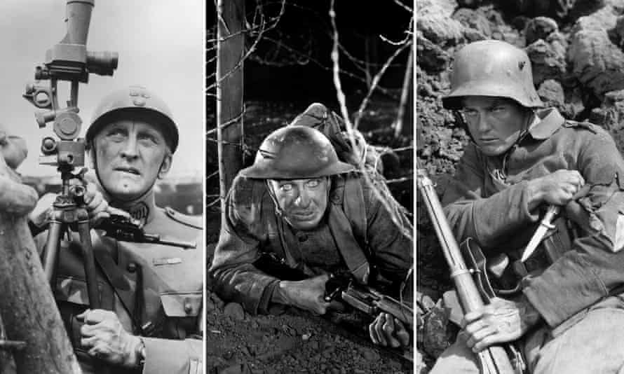 Kirk Douglas in Paths of Glory, The Big Parade, 1925, All Quiet on the Western Front, 1930.