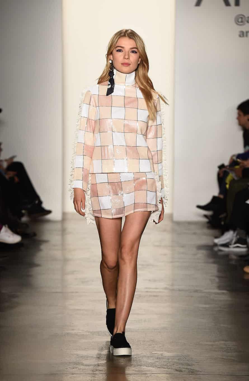 Anna K at last year's New York fashion week.