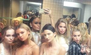 Women in bathroom at Met Gala Ball