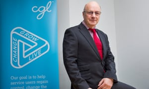 """David Biddle, chief exec of a charity called """"change, grow, live"""""""