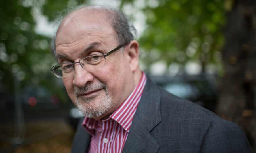 Salman Rushdie, pictured in 2015, is protesting to have a quote falsely attributed to him removed from Twitter.
