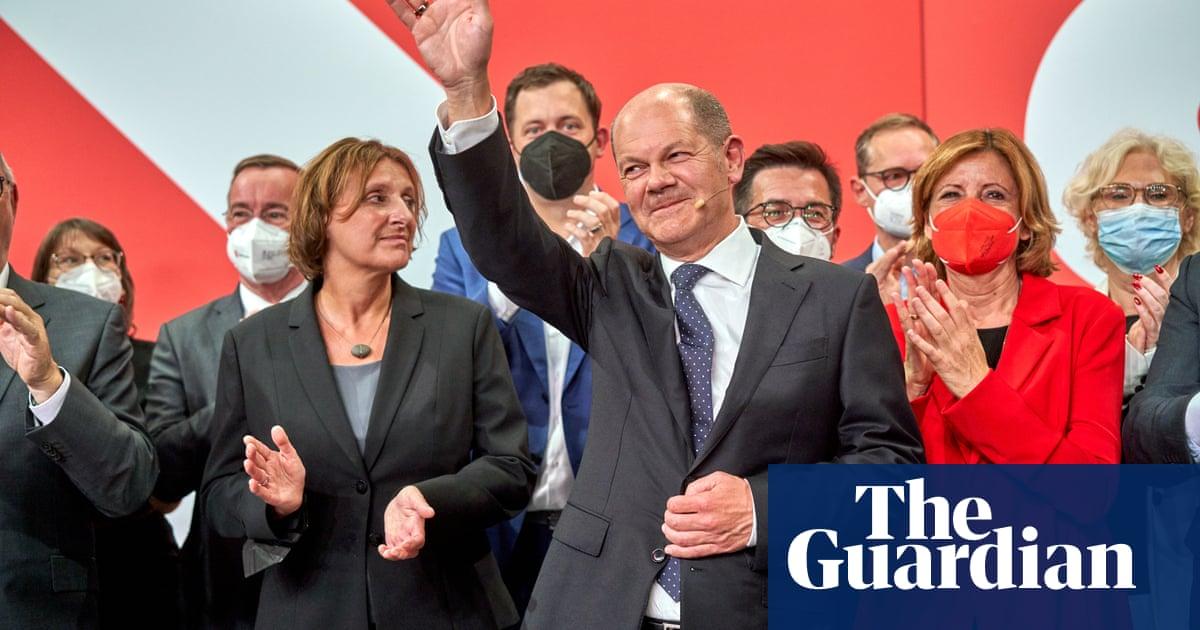 Angela Merkel congratulates Olaf Scholz on German election success