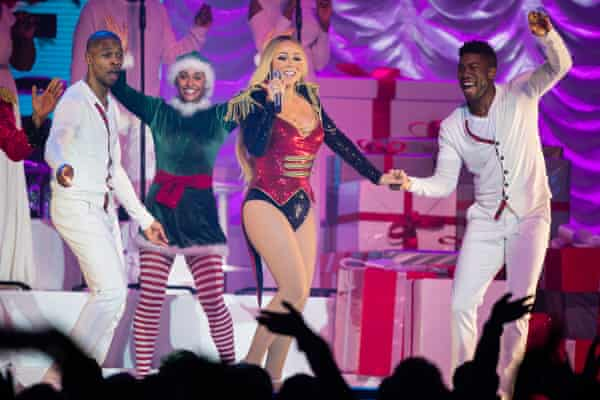 Mariah Carey performing at Nottingham's Motorpoint Arena.