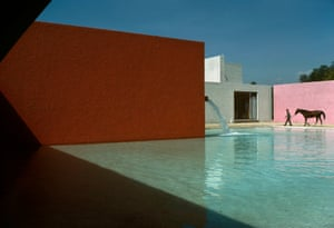 Rene Burri: San Cristobal, Mexico-City, 1976. Buy this printStable, horse, pool and house planned by Mexican architect Luis Barragán in San Cristóbal, Mexico. 1976. The image, writes Clotilde Burri Blanc, the late Burri's wife, was René personal tribute to the spirit of Luis Barragán.