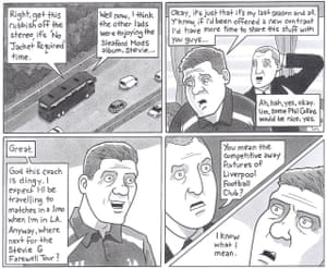 Steve and BrendanThis cartoon was drawn a few days after Steven Gerrard announced he'd be leaving Liverpool at the end of that season. I received a very stern email from a Liverpool fan telling me it was in poor taste to besmirch the character of St Steven so cruelly, which told me that I had done a good job on this one. Published: 12 January 2015