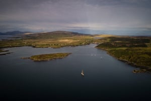 Greenpeace's ship the Beluga II on a scientific expedition around Scotland's coastlines