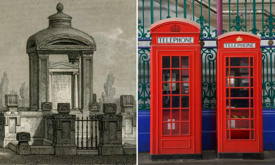 The Soane family tomb and the telephone boxes it inspired