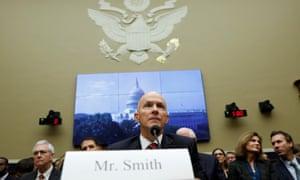 Richard Smith testifies on Capitol Hill in Washington Tuesday.