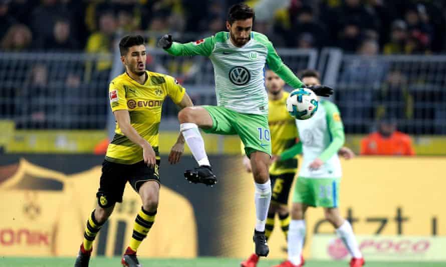 Nuri Sahin in action against Wolfsburg in the recent Bundesliga match