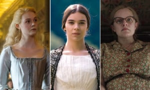 Elle Fanning in The Great, Hailee Steinfeld in Dickinson and Elisabeth Moss in Shirley