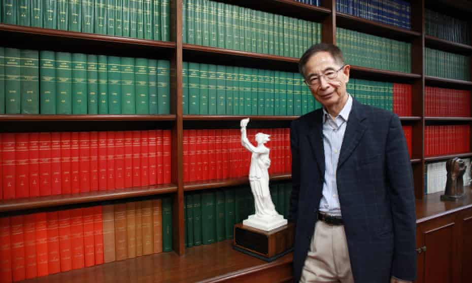 Martin Lee in his Hong Kong chambers in 2018.
