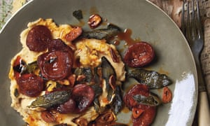 Yotam Ottolenghi's butterbean puree with sage and chorizo